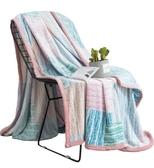 120x200公分珊瑚絨毛毯被子加厚冬季單人宿舍學生薄法蘭絨毯子多色
