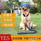 中型大型犬狗狗金毛拉布拉多遛狗繩子項圈狗鍊子P鍊牽引繩帶用品 韓語空間