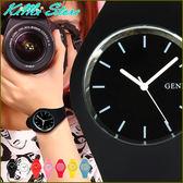 玩轉繽紛色彩  超薄矽膠腕錶  GENEVA 冰系列 比利時風格 男錶 女錶 中性錶 兒童錶 【KIMI store】