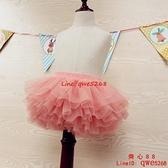 女童紗裙半身裙秋1--7歲新款兒童網紗舞蹈裙春夏寶寶蓬蓬短裙【齊心88】