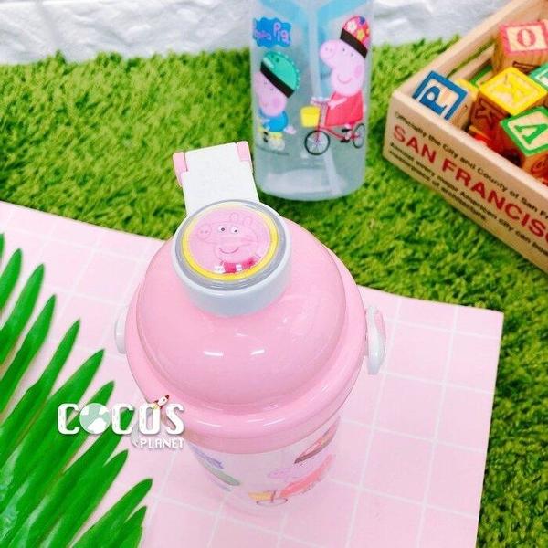 正版 Peppa Pig 佩佩豬 500c.c 可斜背式彈蓋水壺 吸管式兒童水壼 粉色款 COCOS AN100P