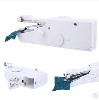 現貨-縫紉機迷妳家用手持電動縫紉機迷妳帶鎖邊銹花小型縫紉機吃厚多功能插電 igo