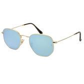 台灣原廠公司貨-【Ray Ban 雷朋】RB3548N-001/30復古水銀鏡面太陽眼鏡(金框-水銀)
