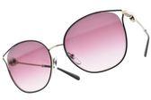 BVLGARI 太陽眼鏡 BG6114 2035-8H (紫金-漸層紫鏡片) 小貓眼簍空造型款 墨鏡 # 金橘眼鏡
