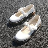 原創新一代日系學生演出小皮鞋森女系厚底平底可愛圓頭女鞋軟妹鞋    初語生活