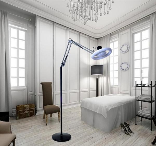 立式美容紋繡燈 LED超亮冷暖光燈睫毛 美甲無影燈 落地環形手術燈ATF  美好生活居家館