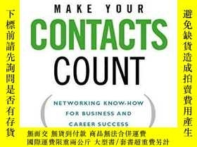 二手書博民逛書店Make罕見Your Contacts CountY256260 Baber, Anne  Waymon, L