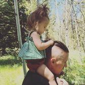 嬰兒裙子夏季純棉套裝5個月女童吊帶洋裝麥吉良品