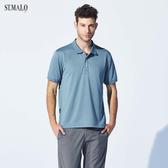 【ST.MALO】經典風格咖啡紗男POLO衫-1954MP-灰藍色