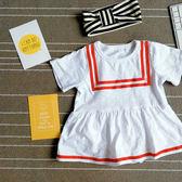 女寶寶哈衣嬰兒連體衣純棉短袖爬服裙韓版潮