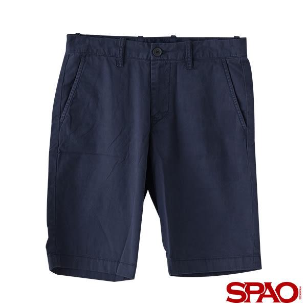 SPAO男款純色休閒短褲-共4色