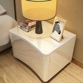 床頭櫃簡約現代收納櫃簡易櫃北歐白色迷你鋼琴烤漆床邊櫃臥室 igo全館免運