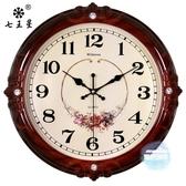 掛鐘 鐘錶掛鐘客廳歐式時尚圓形大氣創意電子石英鐘家用靜音時鐘掛錶 7色
