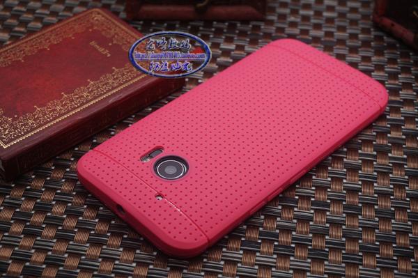 現貨-HTC手機殼HTCM10官網手機殼網式透氣殼htc10散熱殼M8超薄外晶彩生活10-30交換禮物
