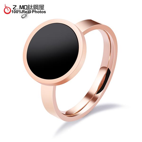 316L白鋼戒指 不生鏽 簡約風格 韓版設計 大方圓型造型 女生禮物推薦 單只價【BKS541】Z.MO鈦鋼屋