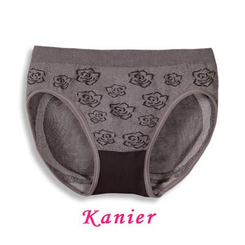 【Kanier】竹碳纖維低腰玫瑰緹花三角褲(Free Size) 3007