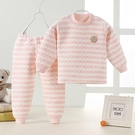 兒童保暖內衣 兒童保暖內衣套裝0-1-3歲2冬款加厚加棉純棉睡衣女童寶寶【快速出貨八折鉅惠】