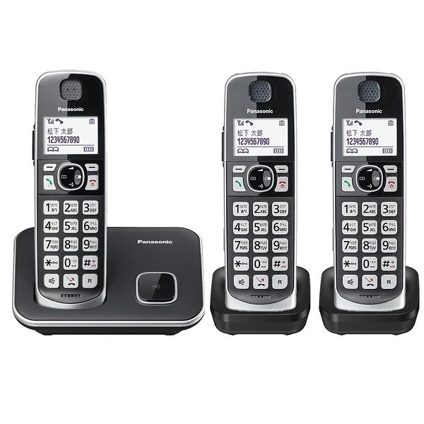 【現在買就送側背包】Panasonic 國際牌 DECT 中文數位無線電話 KX-TGE613 TWB