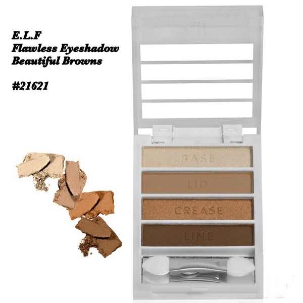 【愛來客 】美國ELF Flawless Eyeshadow 4色完美無瑕眼影盤 3款可選