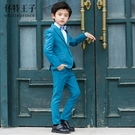 兒童西裝套裝帥氣英倫小主持人表演服男童花童禮服韓版西服三件套 交換禮物