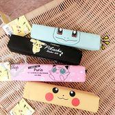 《花花創意会社》韓國帶回。皮卡丘帆布可愛筆袋。四色【H5499】