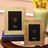 美式歐式客廳書房玄關裝飾蜂巢相框樣板房裝飾金屬相框軟裝擺設 艾尚旗艦店