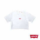 Levis 女款 短袖T恤 / 夏日必備短版上衣 / 迷你經典Logo 白