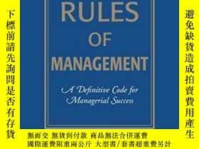 二手書博民逛書店The罕見Rules Of Management: A Definitive Code For Manageria