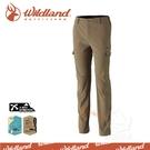 【Wildland 荒野 男 RE彈性粗礦多口袋長褲《黃卡其》】0A32398-62/保暖機能褲/工作褲/休閒褲