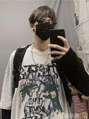 長袖T恤@港仔文藝男 韓版ins嘻哈潮流男生印花假兩件長袖T恤寬鬆衛衣上衣 衣間迷你屋