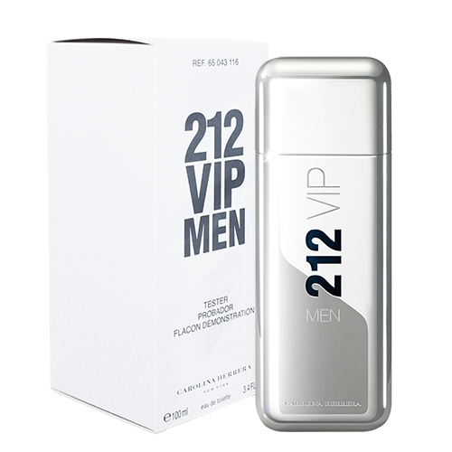 【Carolina Herrera】212 VIP 男性淡香水 100ml TESTER(環保盒有蓋)