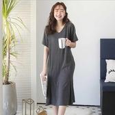 漂亮小媽咪 V領 哺乳洋裝【B4000GU】親膚 孕婦洋裝 哺乳衣 哺乳裝 孕婦兩穿