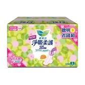 蕾妮亞淨吸柔護-輕薄日用加長衛生棉25cm X14片X2包【愛買】