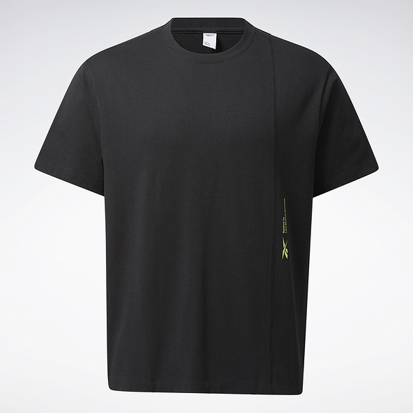 Reebok LIFUL MINIMAL GARMENTS 男裝 短袖 T恤 落肩 聯名 純棉 黑【運動世界】GU3733