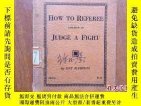 二手書博民逛書店HOW罕見TO REFEREE AND HOW TO JUDGE