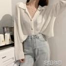 冰絲外套 冰絲開衫女夏天短款防曬衣長袖外搭時尚超薄春秋外套空調服 2021新款