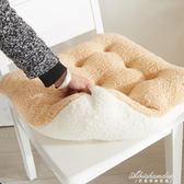 可愛糖果色花朵坐墊超粉嫩羊羔絨軟綿綿超舒適辦公室坐墊毛絨椅墊 黛尼時尚精品