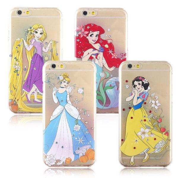 【Disney】迪士尼iPhone 6 Plus 唯美漫畫公主施華洛世奇水鑽系列5.5透明保護硬殼