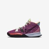 Nike Kyrie 7 (gs) [CT4608-601] 大童鞋 籃球鞋 運動 靈活 包覆 舒適 貼合 避震 紫 黑