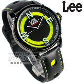 Lee 科技方向 潮流個性腕錶 皮帶 男錶 IP黑色x螢光綠 運動錶 LES-M14DBL1-13