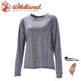 【Wildland 荒野 女 圓領雙色抗UV長袖上衣《深灰》】0A71613/運動上衣/隔熱涼爽/吸濕快乾/登山旅遊