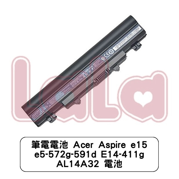 筆電電池 Acer Aspire e15 e5-572g-591d E14-411g AL14A32 電池