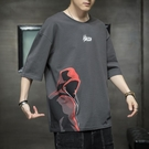 2021新款夏季純棉短袖T恤男潮流寬鬆青少年ins潮牌體恤冰絲上衣服【快速出貨】