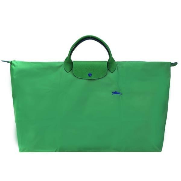 【南紡購物中心】LONGCHAMP LE PLIAGE COLLECTION刺繡短把手提旅行袋(特大/仙人掌綠)