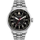 加碼第3年保固*CITIZEN 星辰 光動能萬年曆手錶-黑x銀/44mm BX1010-53E