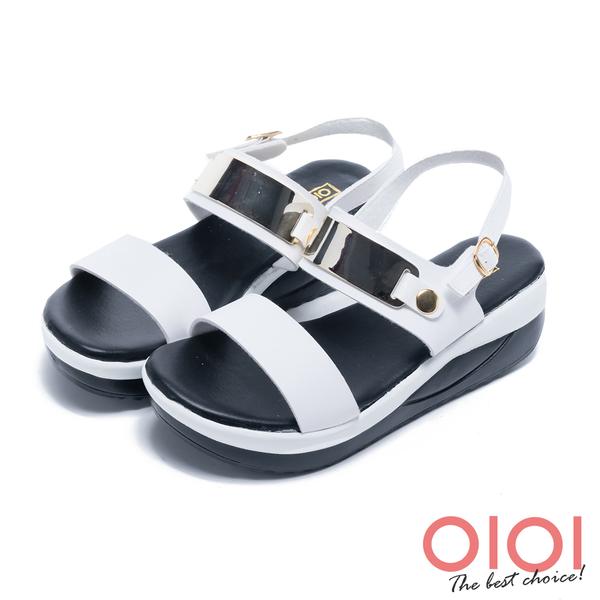 涼拖鞋 MIT舒適輕量一字厚底涼鞋(白)*0101shoes【18-5157w】【現貨】