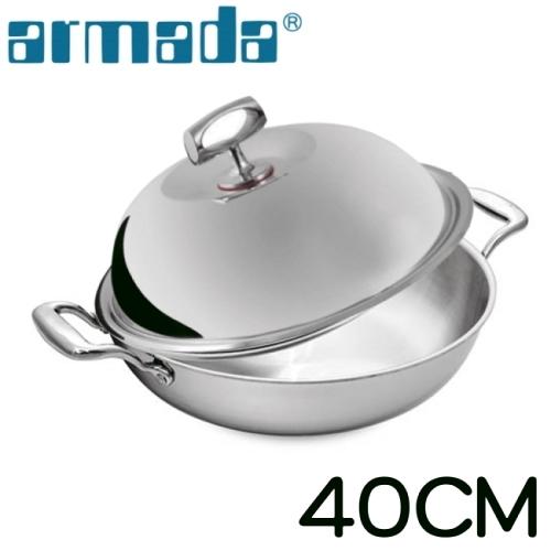【南紡購物中心】armada-菁英5層316不鏽鋼複合金瑞士雙耳炒鍋-40cm SW-402A