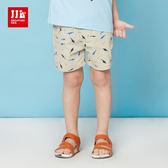 JJLKIDS 男童 可愛繽紛海底世界休閒短褲(卡其)