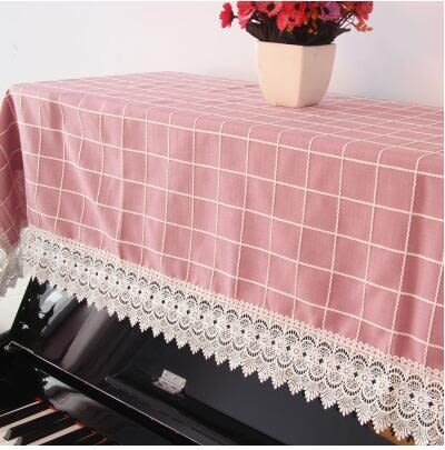 鋼琴巾蕾絲鋼琴半罩歐式風格鋼琴防塵蓋布韓式刺繡花邊布藝琴套(主圖款)