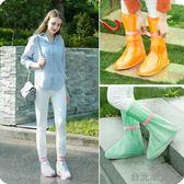 戶外旅行防雨防水鞋套 男女中高筒防滑雨靴套 加厚耐磨雨天雨鞋